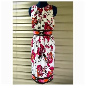 Maggy London | Stretch Floral Midi Dress
